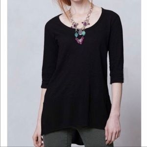 Anthropologie Left of Center Parkway Tunic Top S